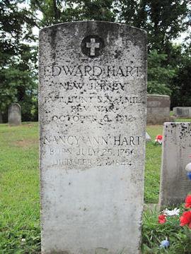 headstone of Edward Hart, Rev War Soldier