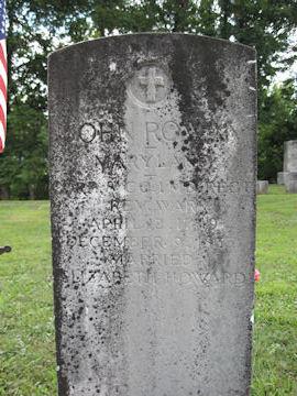 headstone of John Rowan, Rev War Soldier