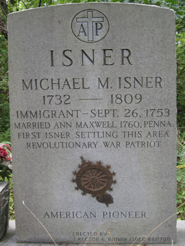 headstone of Michael Isner, Rev War Patriotic Service