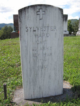 headstone of Sylvester Ward, Rev War Soldier