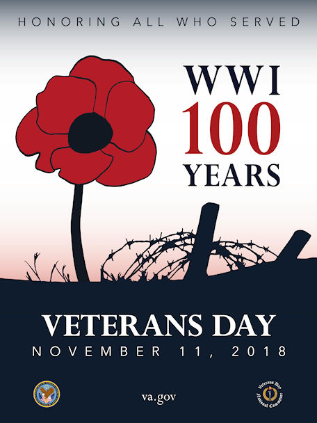 Veterans Day 2018 – image courtesy of the U.S. Dept of Veterans Affairs