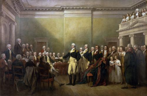 George Washington resigning commission